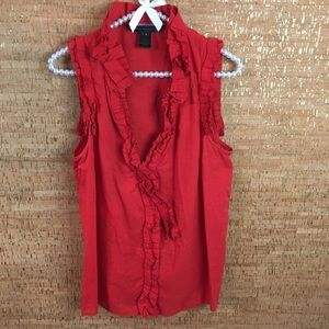 Marc by Marc Jacobs Red Ruffle top